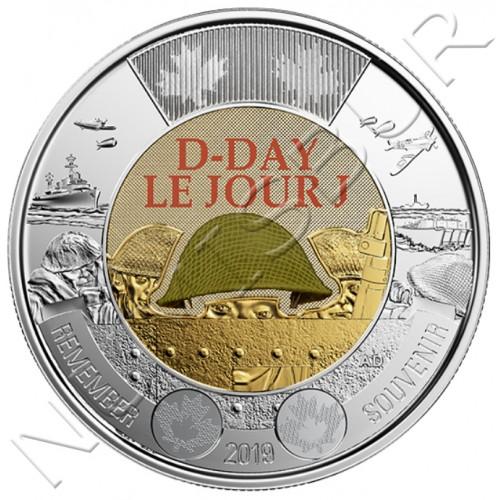 """2$ CANADA 2019 - 75 aniversario Dia D """"LE JOUR J"""""""
