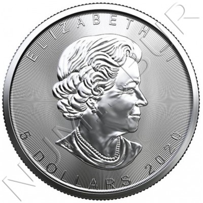 5$ CANADA 2020- Maple leaf
