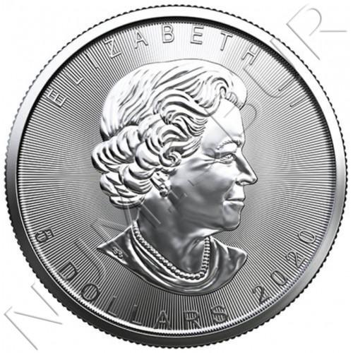 5$ CANADA 2020- Maple leaf