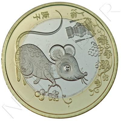 10 yuan CHINA 2020 - Rat