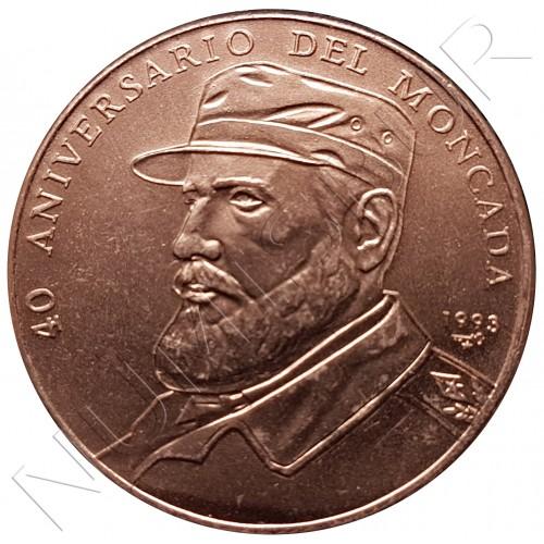 1 peso CUBA 1993 - 40 aniversario de Moncada