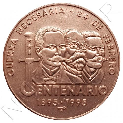 1 peso CUBA 1995 - Centenario 1895-1995