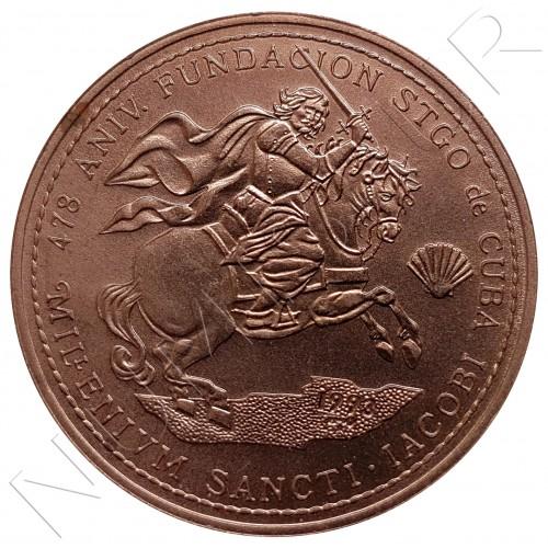1 peso CUBA 1993 - 1000 aniv. de St. Jacobi