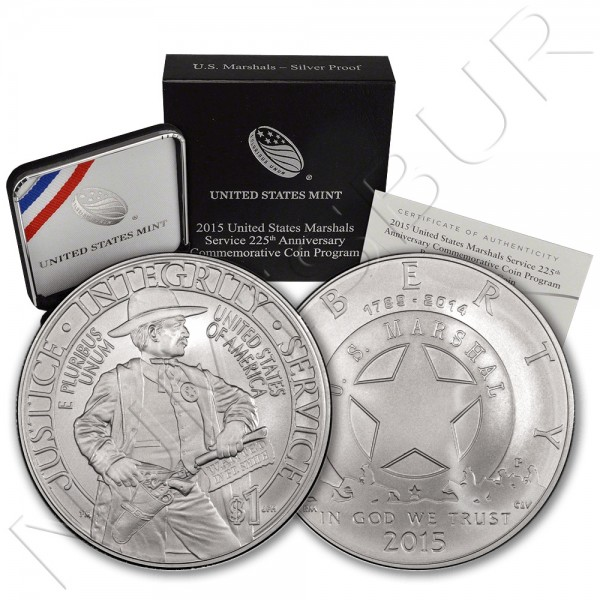 1$ USA 2015 - Marshals Service 225th anniv