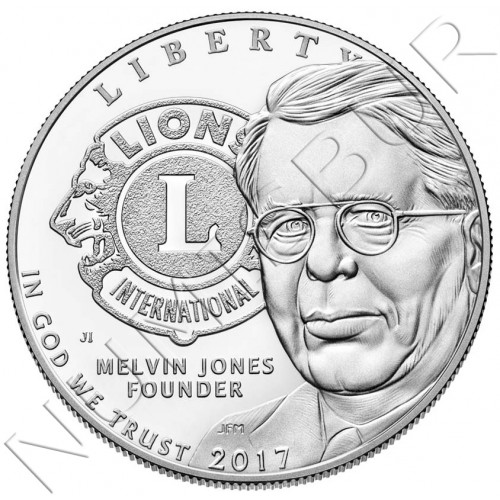 1$ EEUU 2017 - Lions Club internacional Centennial S/C