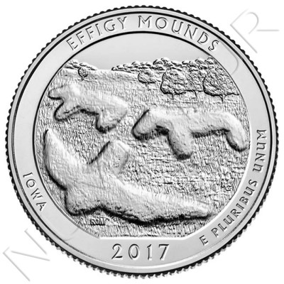 0.25$ EEUU 2017 - Effigy Mounds