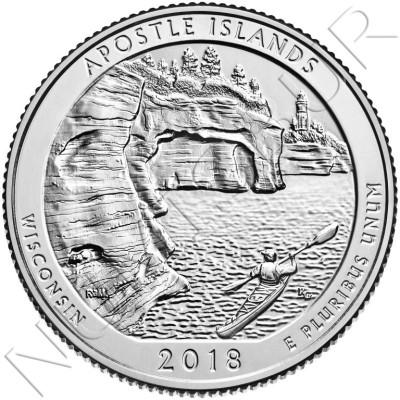 0.25$ USA 2018 - Wisconsin