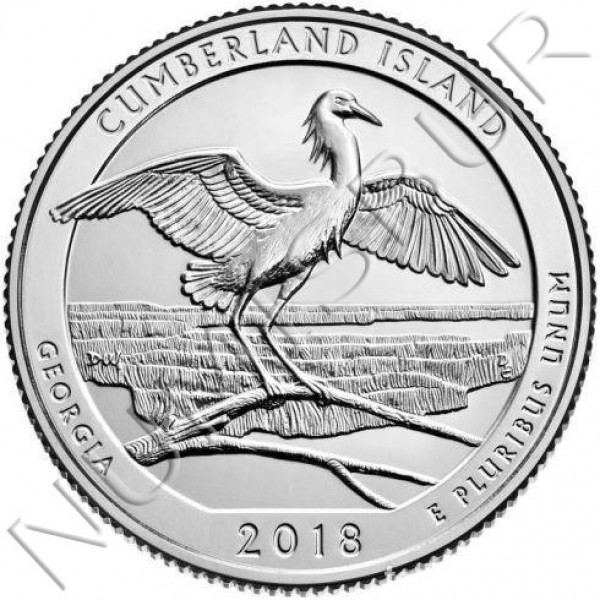 0.25$ EEUU 2018 - Cumberland Islands