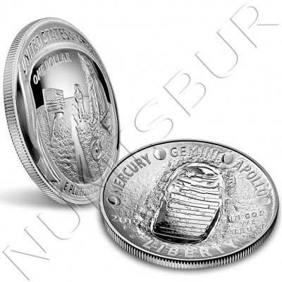 1$ USA 2019 - Apolo 11 50th Anniversary PROOF