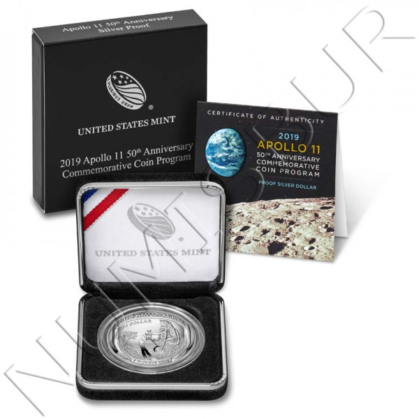 1$ USA 2019 - Apolo 11 50th Anniversary UNC
