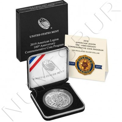 1$ USA 2019 - 100 anniv. US Legion PROOF
