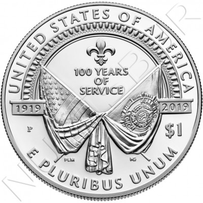 1$ USA 2019 - 100 anniv. US Legion UNC