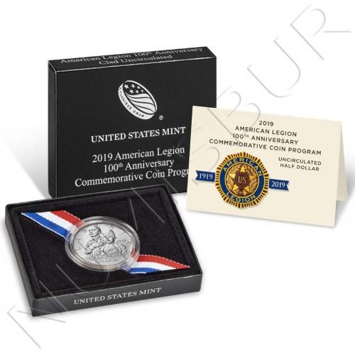 0.50$ USA 2019 - American Legion 100th Anniversary PROOF