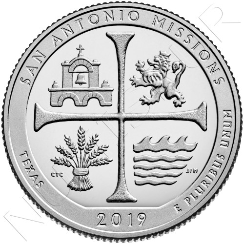 0.25$ USA 2019 - Texas