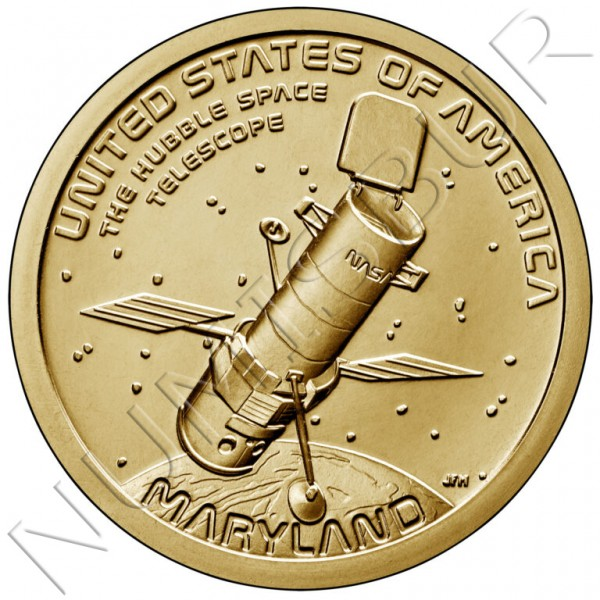 "1$ USA 2020 - The hubble space telescope ""Maryland"""