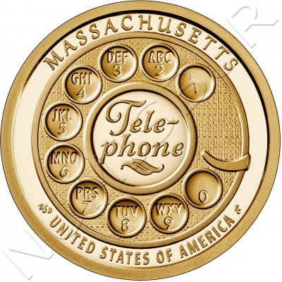 "1$ USA 2020 - Telephone ""Massachusetts"""