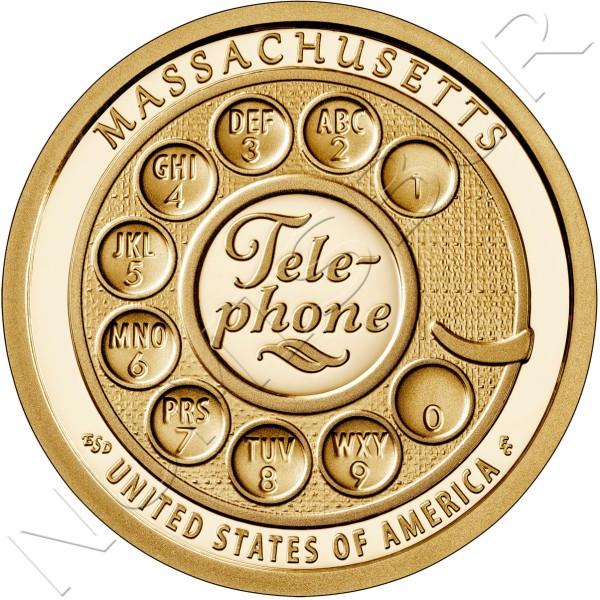 "1$ USA 2020 - Telephone ""Massachusetts"""