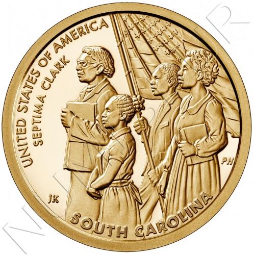 """1$ USA 2020 - Septima Clark """"South Carlina"""""""