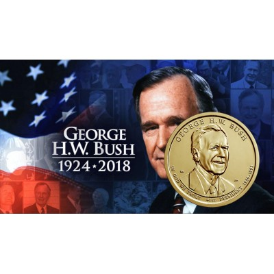 1$ USA 2020 - 41th George H.W Bush