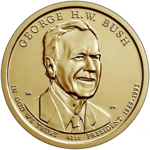 1$ USA 2020 - 41th George H.W Bush