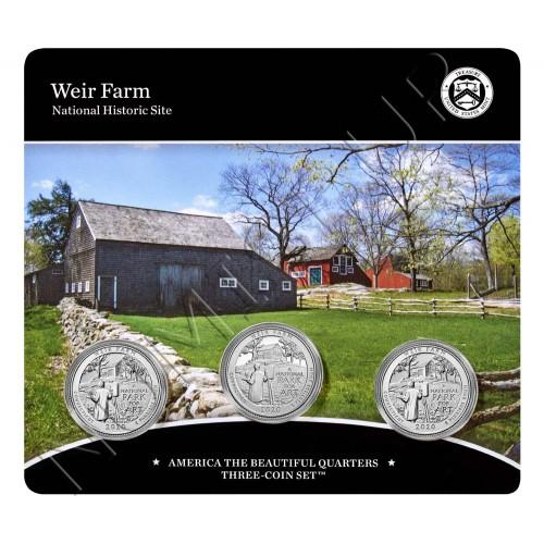 Set 0.25$ UNITED STATES 2020 - Weir Farm (D P S)