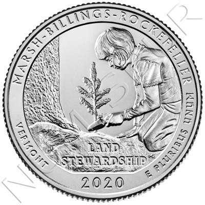 0.25$ USA 2020 - Marsh Billings Rockefeller (Vermont)
