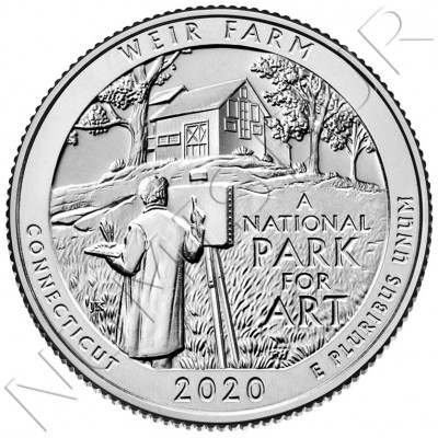 0.25$ USA 2020 - Weir Farm (Connecticut)
