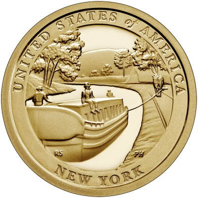 1$ USA 2021 - Erie canal (New York)