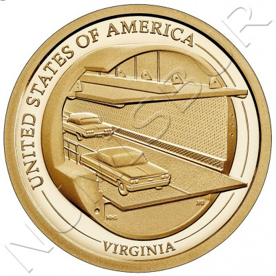 1$ USA 2021 - Chesapeake Bay Tunnel (Virginia)