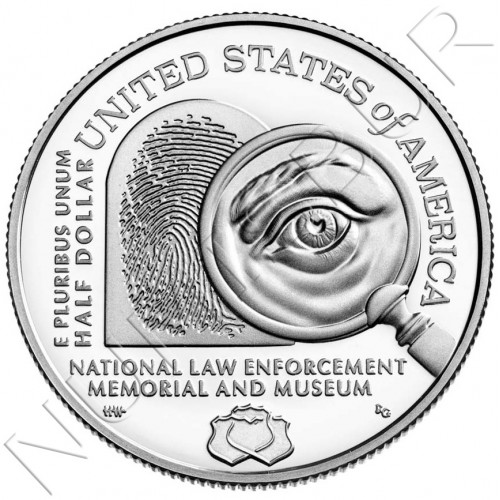 0.50$ USA 2021 - National Law Enforcement Memorial and Museum (PROOF)