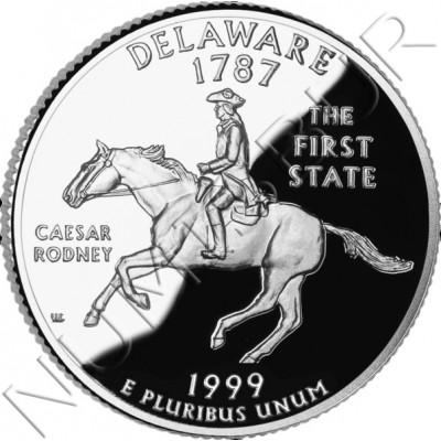 0.25$ EEUU 1999 - #1 Delaware