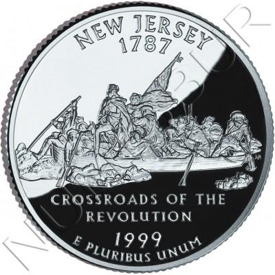 0.25$ EEUU 1999 - #3 New Jersey