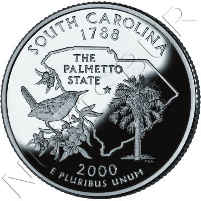 0.25$ EEUU 2000 - #8 South Carolina