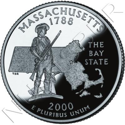 0.25$ EEUU 2000 - #6 Massachusetts