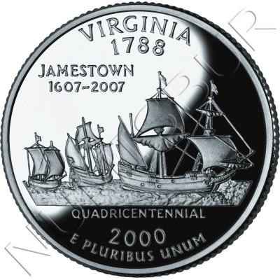 0.25$ EEUU 2000 - #10 Virginia