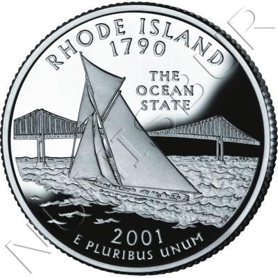 0.25$ EEUU 2001 - #13 Rhode Island