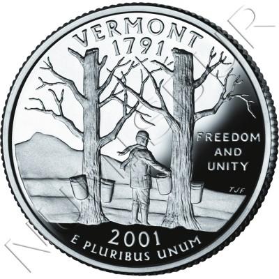 0.25$ EEUU 2001 - #14 Vermont