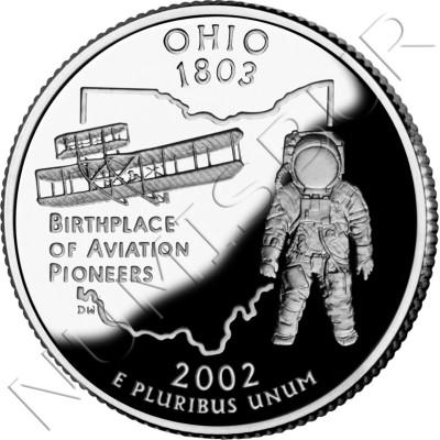 0.25$ EEUU 2002 - #17 Ohio
