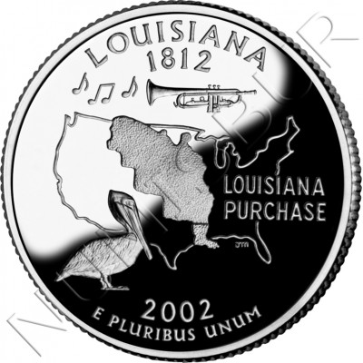0.25$ EEUU 2002 - #18 Louisiana