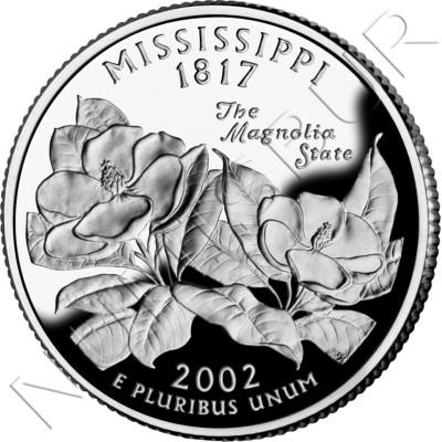 0.25$ EEUU 2002 - #20 Mississippi