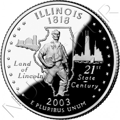 0.25$ EEUU 2003 - #21 Illinois