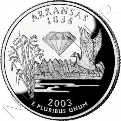0.25$ EEUU 2003 - #25 Arkansas