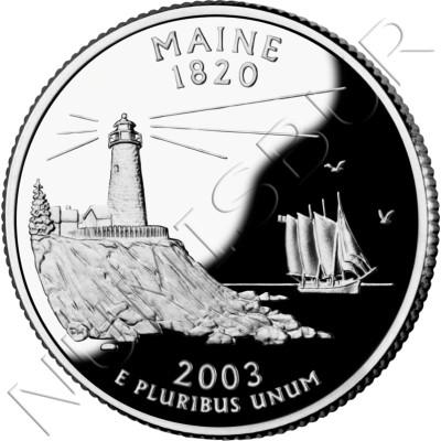 0.25$ EEUU 2003 - #23 Maine