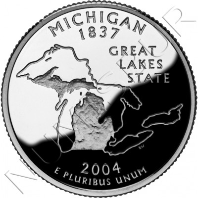 0.25$ EEUU 2004 - #26 Michigan