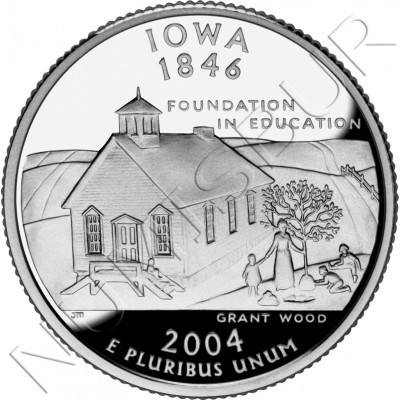 0.25$ EEUU 2004 - #29 Iowa