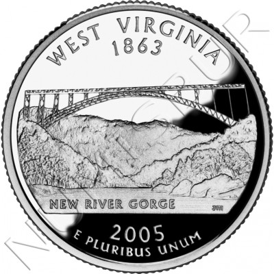 0.25$ EEUU 2005 - #35 West Virginia