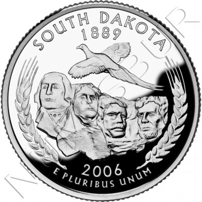0.25$ EEUU 2006 - #40 South Dakota