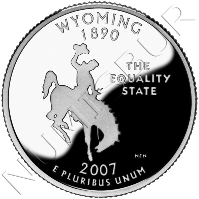 0.25$ EEUU 2007 - #44 Wyoming
