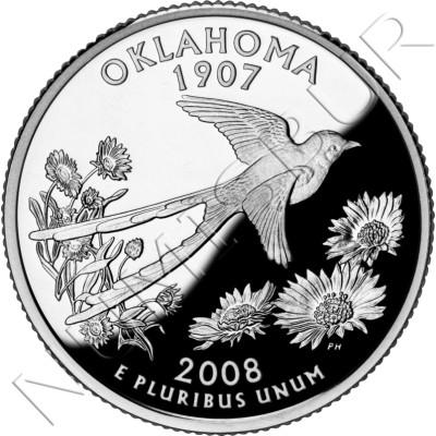 0.25$ EEUU 2008 - #46 Oklahoma