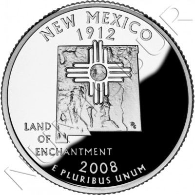 0.25$ EEUU 2008 - #47 New Mexico